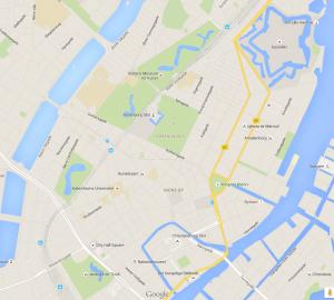MAPA DEL CENTRO DE COPENHAGUEN